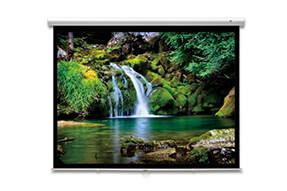 DELUXX Advanced schermo avvolgibile con slowmotion 16:9 color bianco avorio Polaro 266 x 148 cm