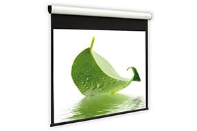 DELUXX Cinema schermo a motore Elegance 16:9 color bianco avorio Varico Flat 203 x 114 cm